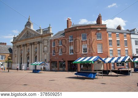 Views Of Market Place And The Castle Quay Shopping Centre In Banbury, Oxfordshire In The Uk, Taken 2