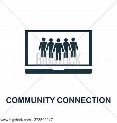 Community Connection Icon. Simple Element From Community Management Collection. Filled Community Con