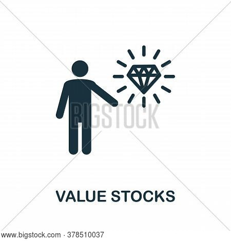 Value Stocks Icon. Simple Element From Community Management Collection. Filled Value Stocks Icon For