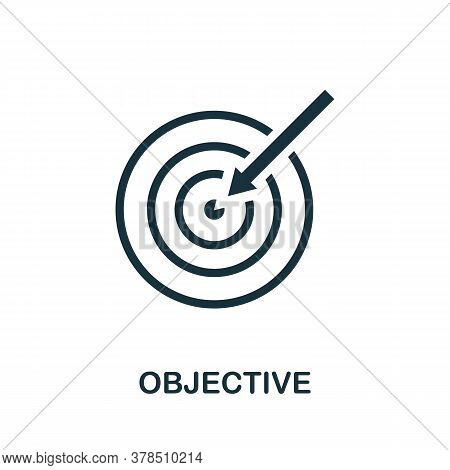 Objective Icon. Simple Element From Community Management Collection. Filled Objective Icon For Templ