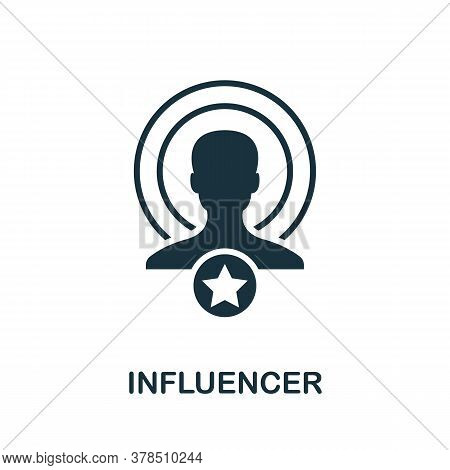 Influencer Icon. Simple Element From Community Management Collection. Filled Influencer Icon For Tem