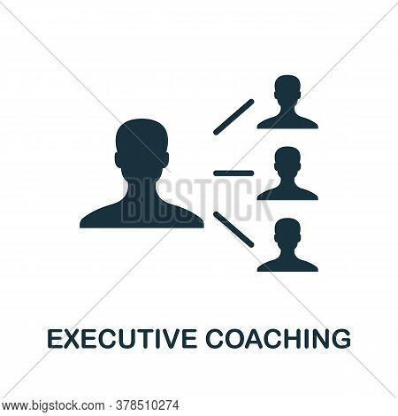 Executive Coaching Icon. Simple Element From Community Management Collection. Filled Executive Coach