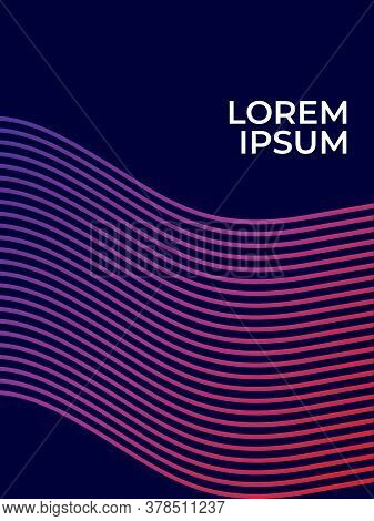 Abtract Line Patern Background. Purple Line Patern Gradient Background. Background Concept Design, M