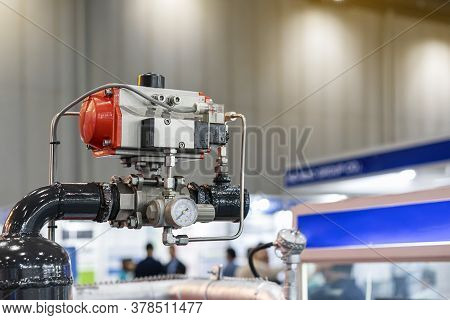 Single Coil Solenoid And Pneumatic Inner Thread Ball Valve For Air Pressure And Direction Control Wi