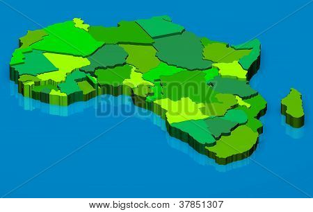 Political Map Of Africa 3D