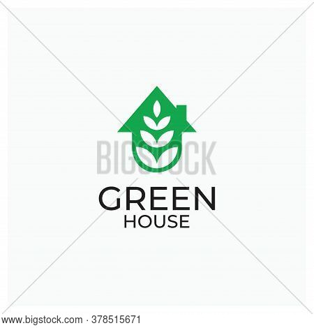 Green House Logo Or Green House Ecology Or Environment Green House Icon For Industrial Logo Or Natur