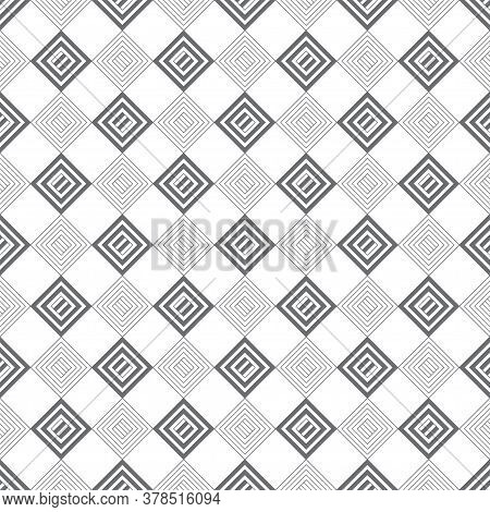 Vector Seamless Pattern. Classical Stylish Texture With Rhombuses And Diamonds Which Form Regularly