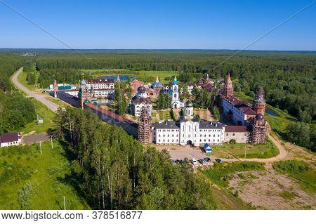 Nikolo-solbinsky Convent, Pereslavsky District, Yaroslavl Region On A Summer Day.