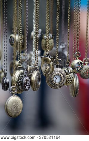 Pocket Watches Hanging Watch Chain Time Blur