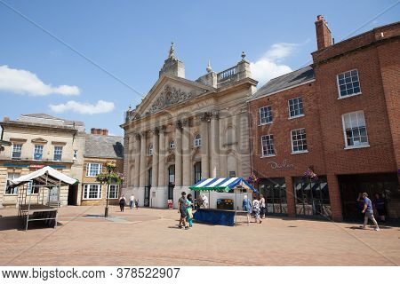 Market Place In Banbury, Oxfordshire With The Castle Quay Shopping Centre In The Uk, Taken On The 26