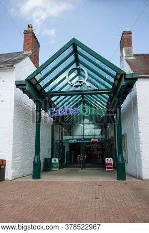 The Entrance To The Castle Quay Shopping Centre In Banbury In The Uk, Taken On The 26th June 2020