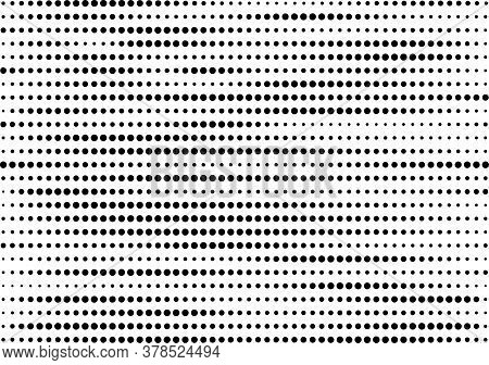 Black Dots In Horizontal Lines Pattern, Dark Points On White Background, Wave Dots Backdrop, Compute
