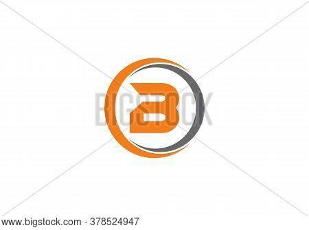 Abstract Letter B Logo Design With Creative Modern Trendy. Minimal B Letter Logo.