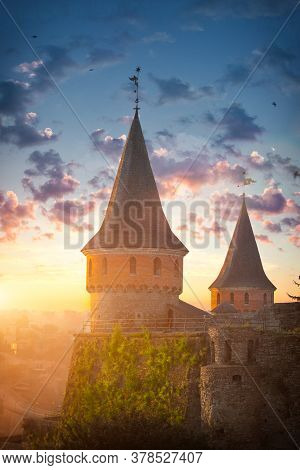 Ancient Stone Fortress In The City Of Kamianets-podilskyi, Ukraine