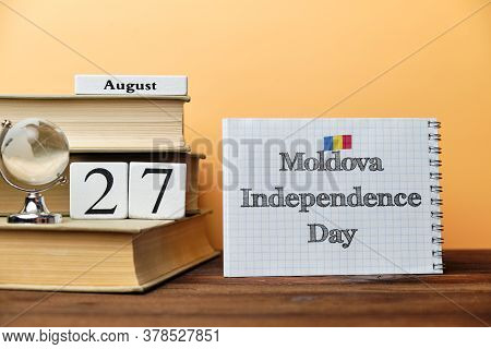 27th August - Moldova Independence Day. Twenty Seventh Day Month Calendar.