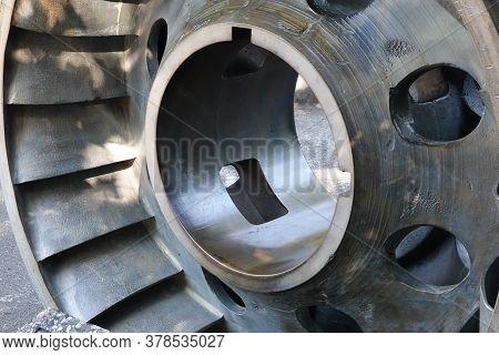 Old Retired Hydro Electric Water Turbine Wheel