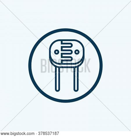 Resistor Glyph Icon Vector On White Background. Flat Vector Resistor Icon Symbol Sign From Modern Te