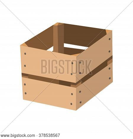 Wooden Drawer. Box Package. Transportation Container Or Empty Wood Crate, Cargo Distribution Pack
