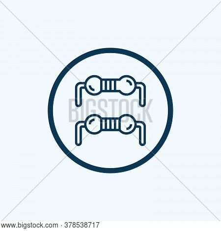Resistor Icon Vector. Trendy Flat Resistor Icon From Technology Collection Isolated On White Backgro