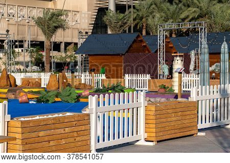 Doha, Qatar - Nov 21. 2019. The Exhibition Of Miniature Copies Of World Landmarks