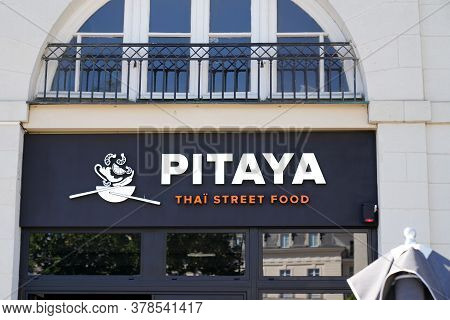 Bordeaux , Aquitaine / France - 07 25 2020 : Pitaya Logo And Text Sign For Thai Street Food Restaura