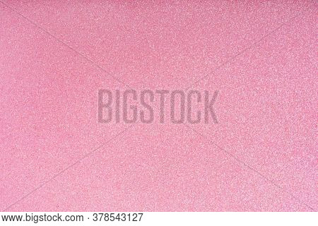Holiday Glowing Pink Sparkle Backdrop. Abstract Vibrant Festive Defocused Light. Festive Glitter Chr