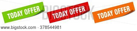 Today Offer Sticker. Today Offer Square Isolated Sign