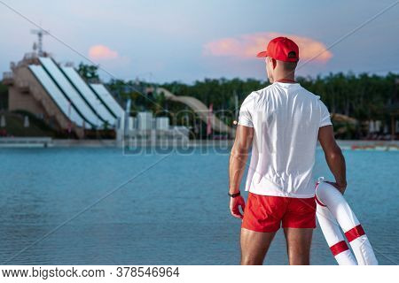 Lifeguards In Great Physical Shape On The Private Beach