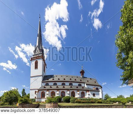 Scenic  View To Old Town Church St. Martin In Eltville, Germany