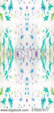 Shibori Flowers. Aquarelle Art. Tie-dye Pattern. Acrylic Kilim Texture. Seamless Textile. Seamless I