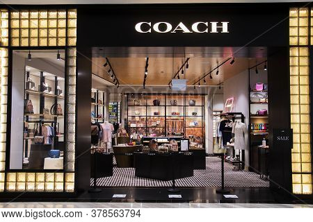 Singapore, 24 Jul, 2020: Entrance To Coach Store In Jewel Changi Airport. Jewel Changi Airport Is A