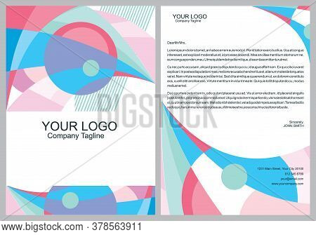 Abstract Modern Bird Banners, Cover, Business Brochure Design Template Front And Back Set From Geome