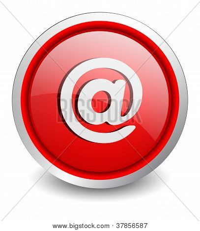 At red button - design web icon