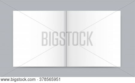 Blank White Newspaper Mock Up Isolated On Gray Background