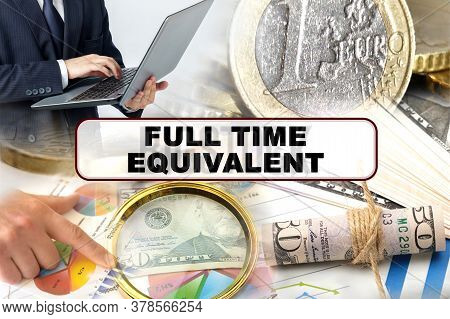 Business Concept. Photo Collage Of Photographs On Financial Topics, The Inscription In The Center -