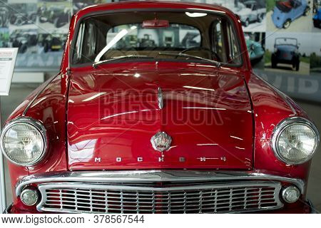 Vologda. Russia-july 2020:: Moskvich Model Presented At A Unique Exhibition Of Retro Cars In Vologda