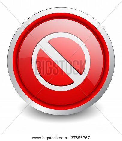 Ban red button - design web icon