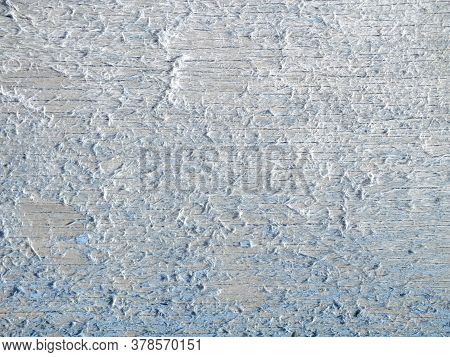 Background Image Of An Old Wooden Surface With Shabby Blue Paint