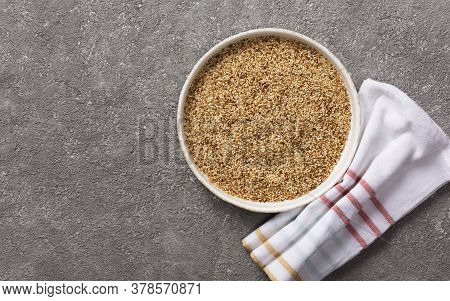 Sesame Seeds Are A Healthy Dietary Ingredient. Oven-dried Sesame Seeds