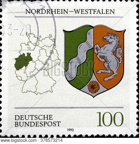02 11 2020 Divnoe Stavropol Territory Russia The Postage Stamp Germany 1993 German Constituent State