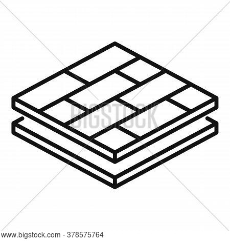 Wood Floor Tiles Icon. Outline Wood Floor Tiles Vector Icon For Web Design Isolated On White Backgro