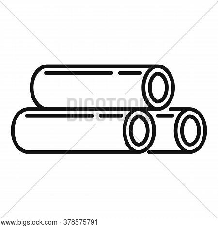 Steel Contruction Pipes Icon. Outline Steel Contruction Pipes Vector Icon For Web Design Isolated On