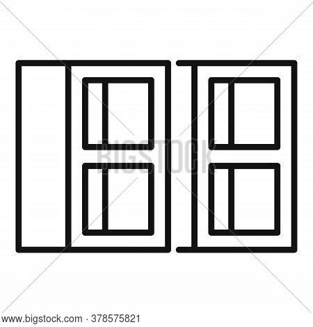 Construction Stone Brick Icon. Outline Construction Stone Brick Vector Icon For Web Design Isolated