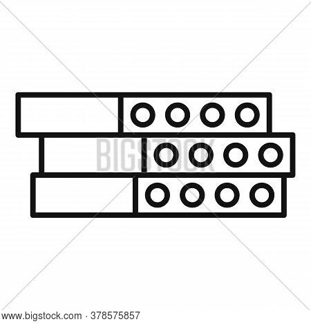 Construction Concrete Block Icon. Outline Construction Concrete Block Vector Icon For Web Design Iso