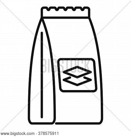 Tiles Glue Sack Icon. Outline Tiles Glue Sack Vector Icon For Web Design Isolated On White Backgroun
