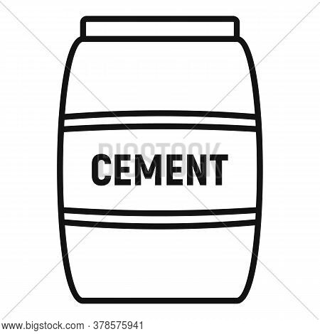 Cement Sack Icon. Outline Cement Sack Vector Icon For Web Design Isolated On White Background
