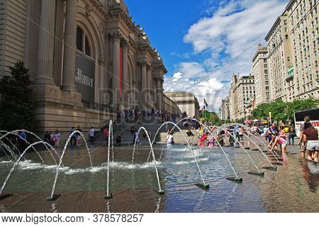 New York / United States - 01 Jul 2017: New York Metropolitan Museum, United States