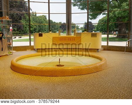 July 20th 2020, Podebrady, Czechia. Springs  Inside The Colonnade And Is Named After Professor Liben