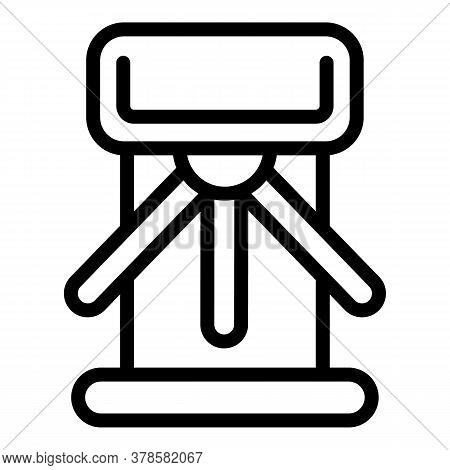 Closed Turnstile Icon. Outline Closed Turnstile Vector Icon For Web Design Isolated On White Backgro