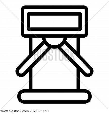 Control Turnstile Icon. Outline Control Turnstile Vector Icon For Web Design Isolated On White Backg